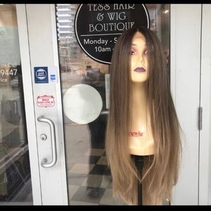 Accessories - Ash Blonde ombré 30+ Long Layers Wig Lacefront New